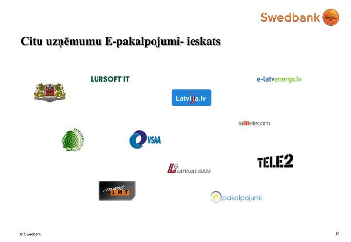 Citu uzņēmumu E-pakalpojumi- ieskats