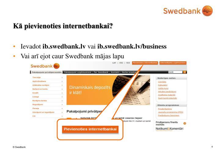 Kā pievienoties internetbankai?