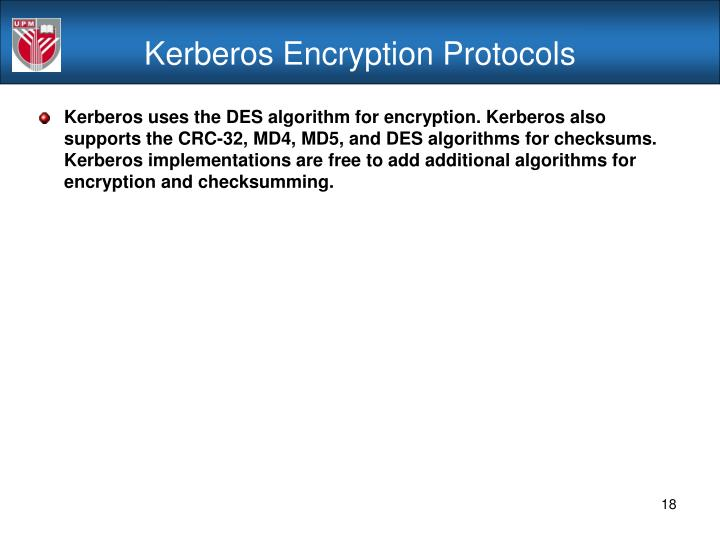 Kerberos Encryption Protocols