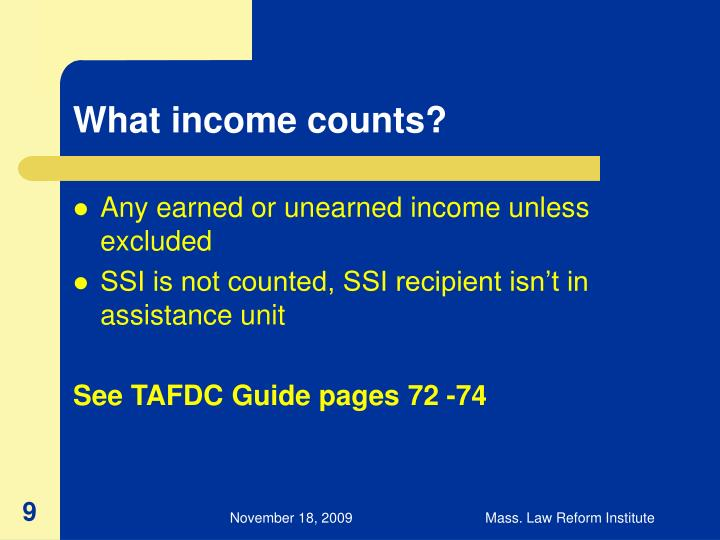 What income counts?