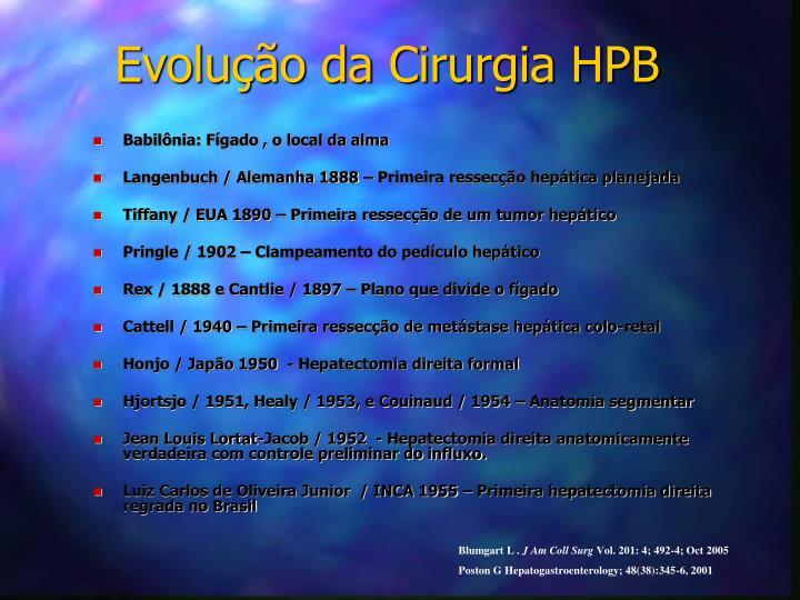 Evolução da Cirurgia HPB