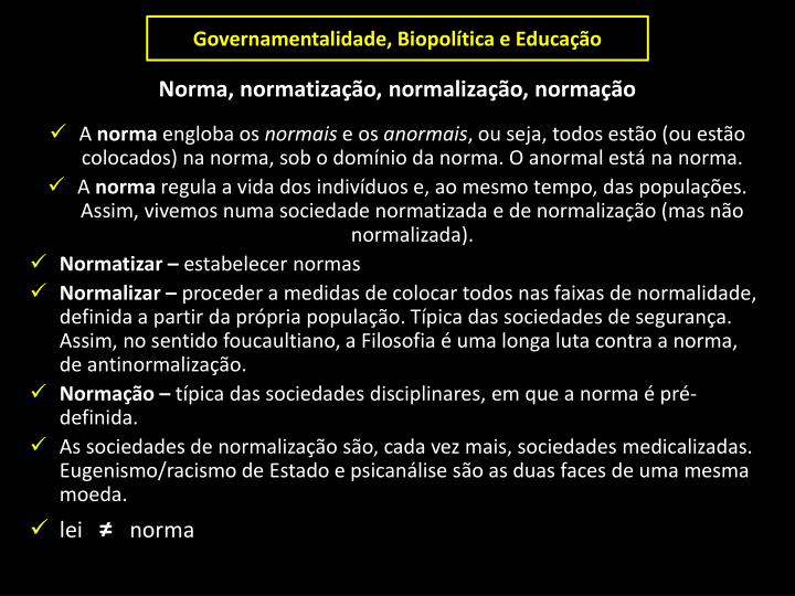 Governamentalidade,