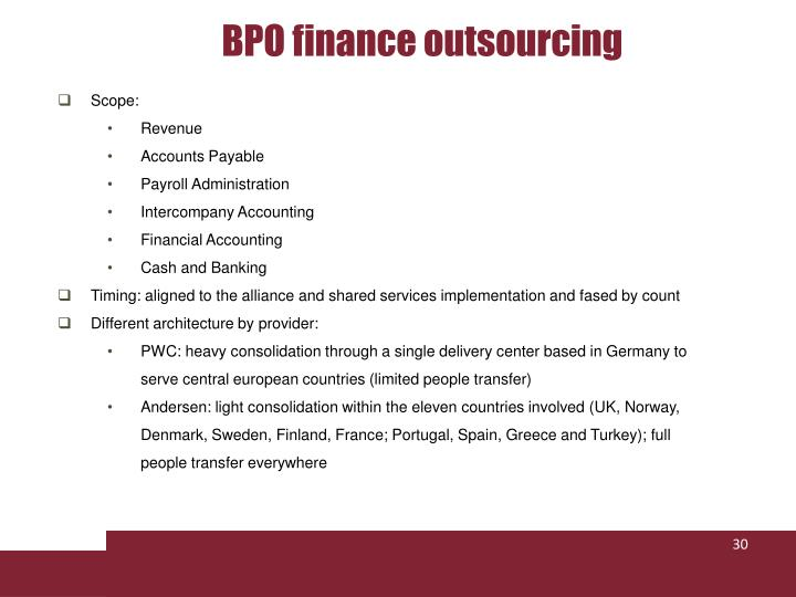 BPO finance outsourcing