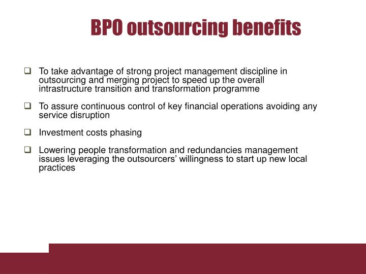 BPO outsourcing benefits