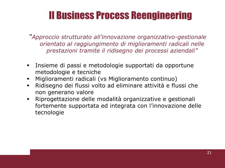 Il Business Process Reengineering