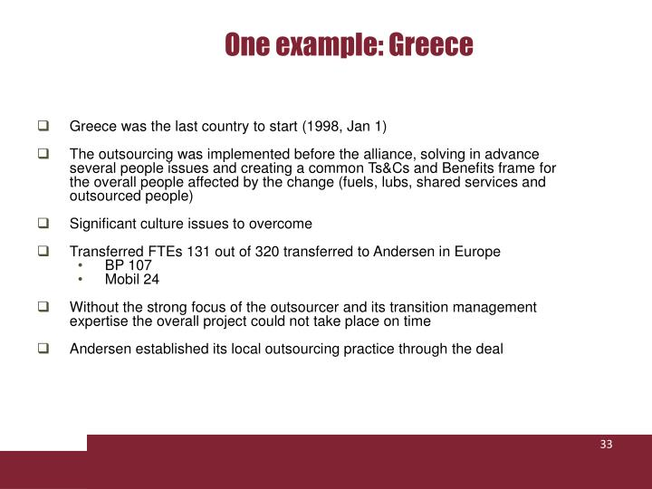 One example: Greece