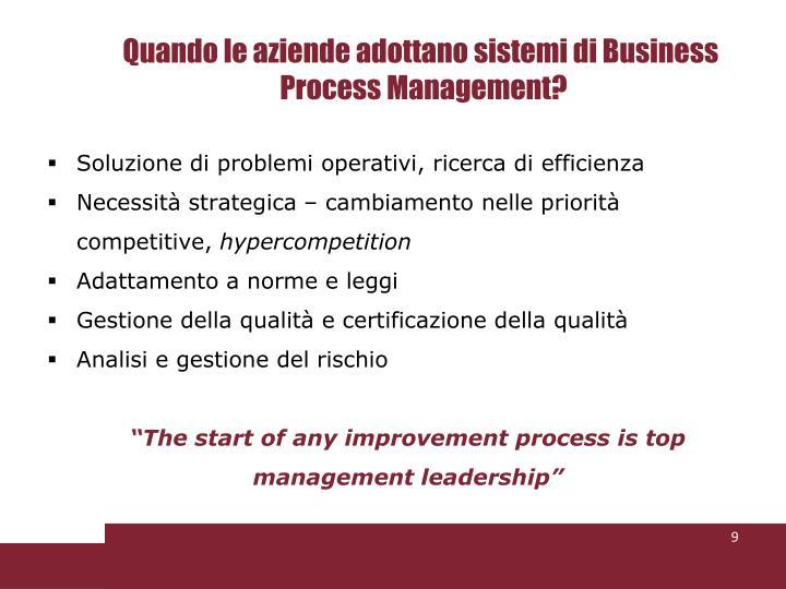 Quando le aziende adottano sistemi di Business