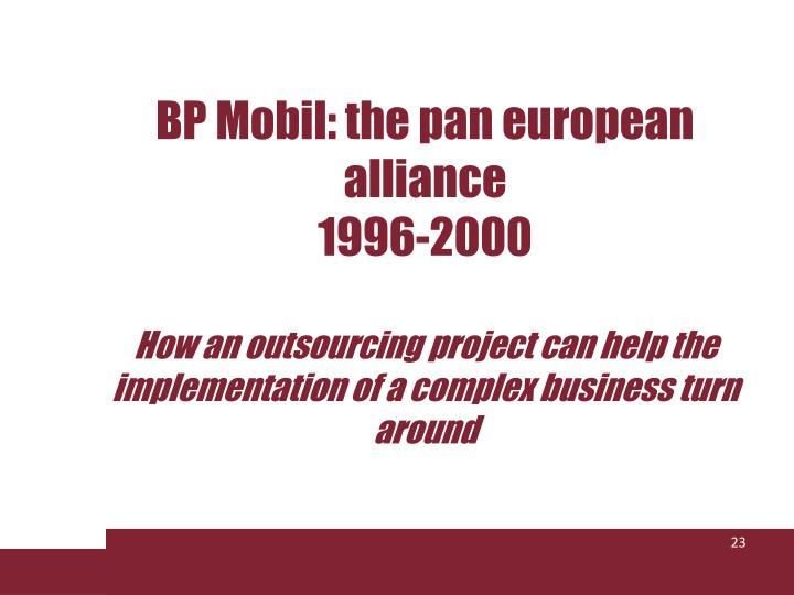 BP Mobil: the pan european alliance