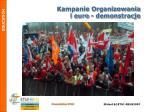 kampanie organizowania i euro demonstra cje