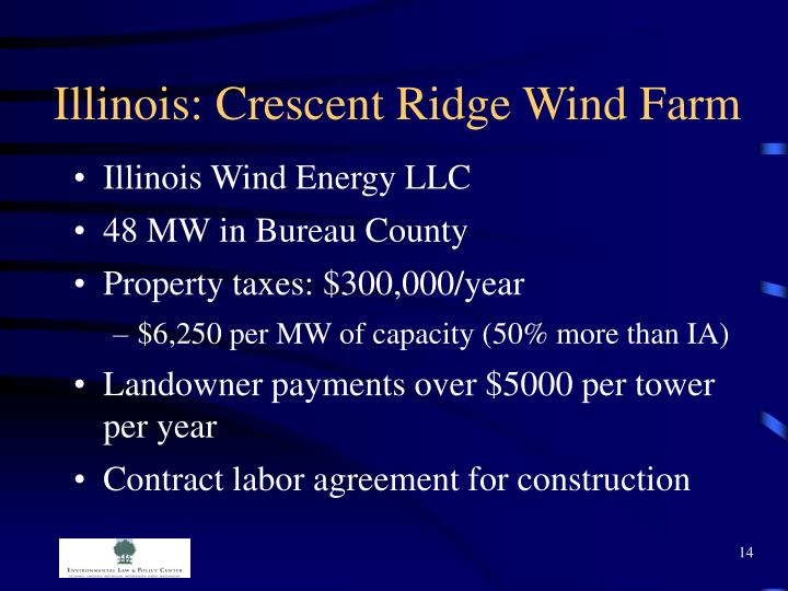 Illinois: Crescent Ridge Wind Farm
