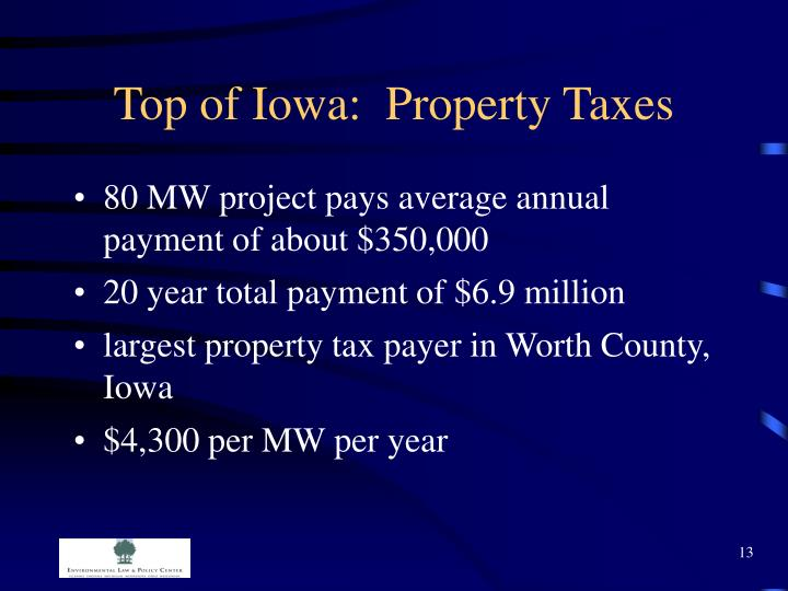Top of Iowa:  Property Taxes