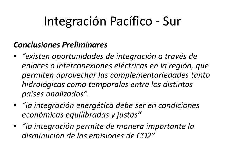 Integración Pacífico - Sur