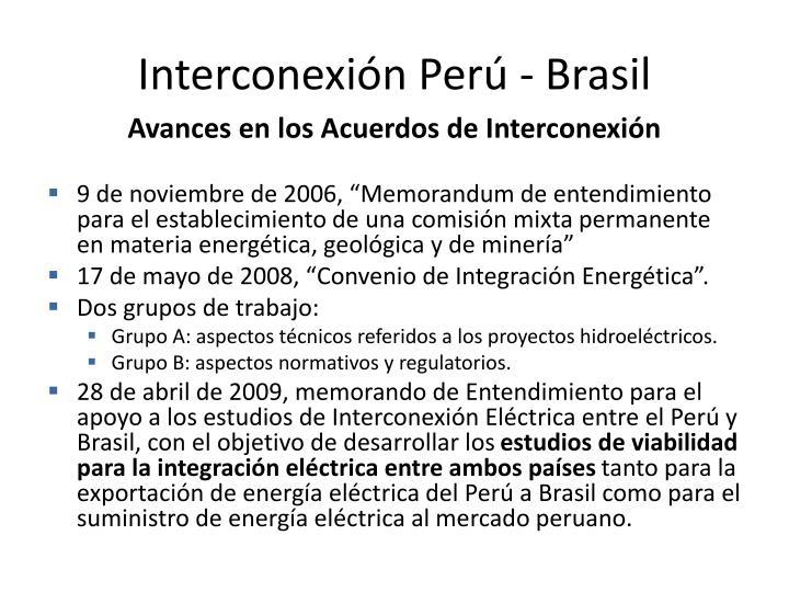 Interconexión Perú - Brasil