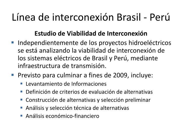 Línea de interconexión Brasil - Perú