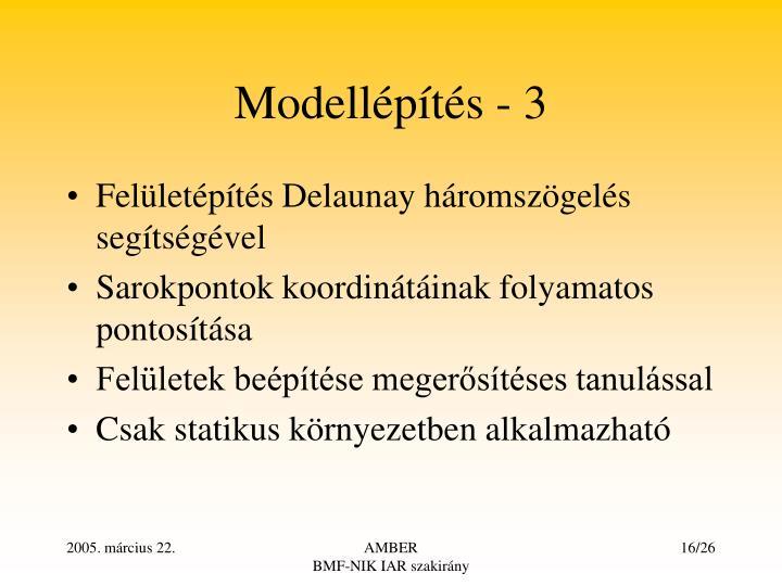 Modellépítés - 3