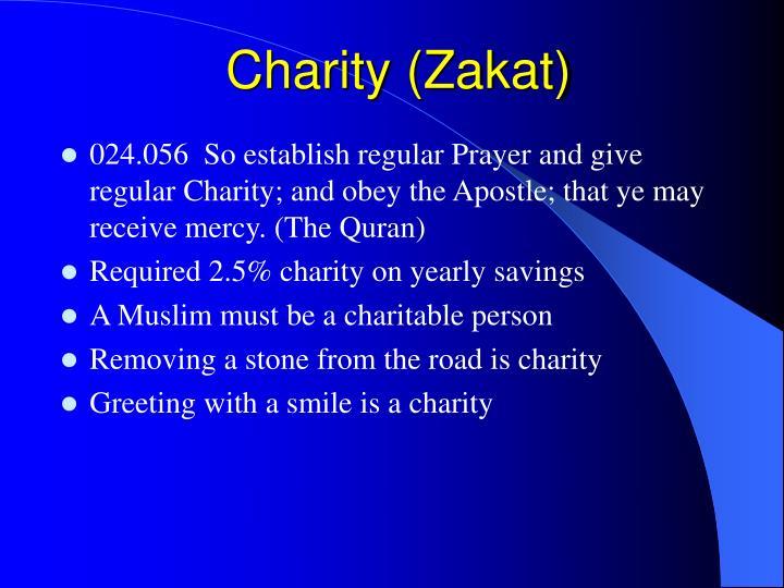 Charity (Zakat)