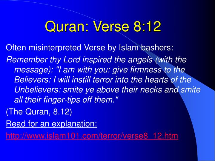 Quran: Verse 8:12
