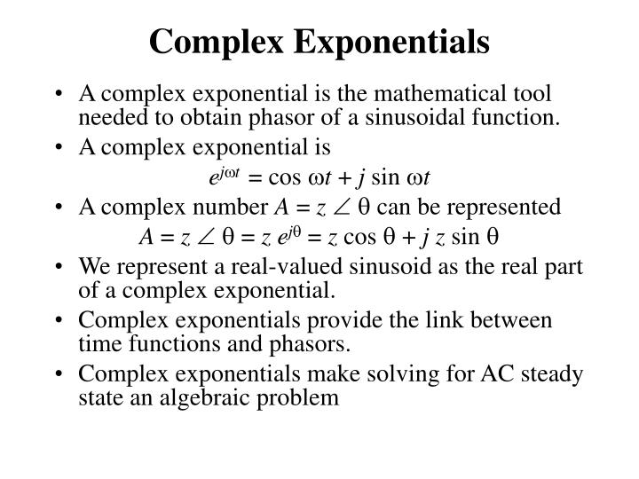 Complex Exponentials