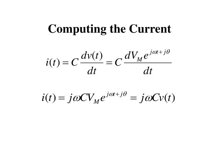 Computing the Current