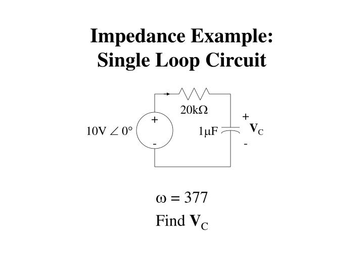 Impedance Example:
