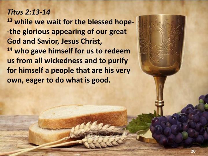 Titus 2:13-14