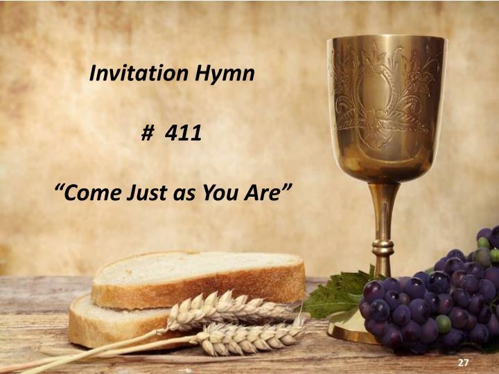 Invitation Hymn