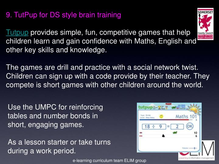 9. TutPup for DS style brain training