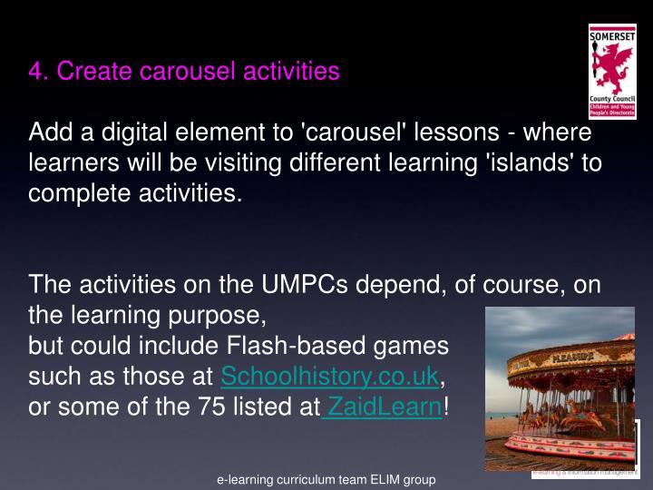 4. Create carousel activities