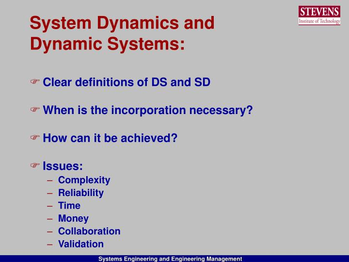 System Dynamics and