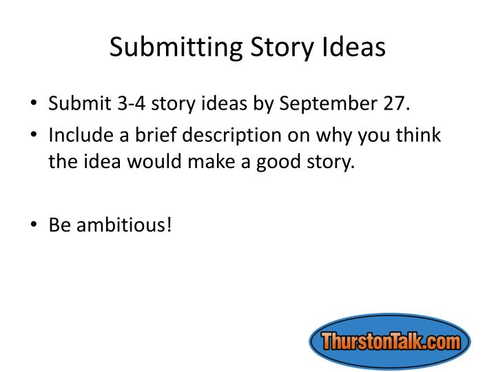 Submitting Story Ideas