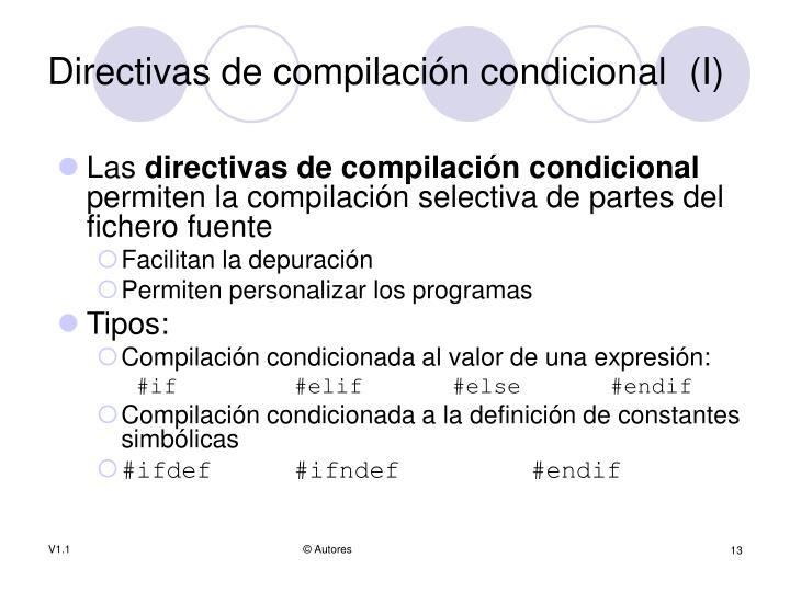 Directivas de compilación condicional