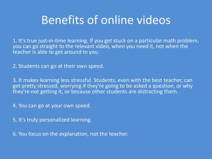 Benefits of online videos