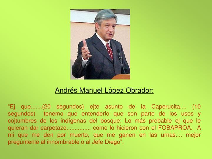 Andrs Manuel Lpez Obrador: