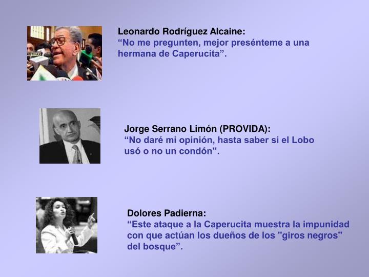 Leonardo Rodrguez Alcaine: