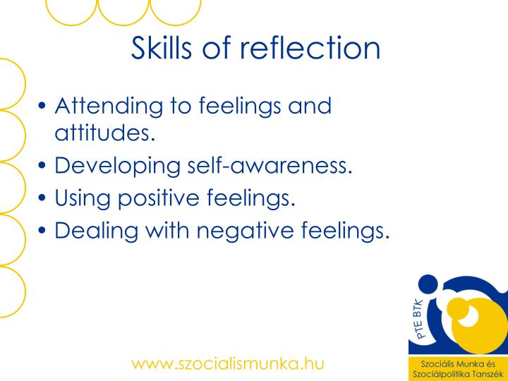 Skills of reflection