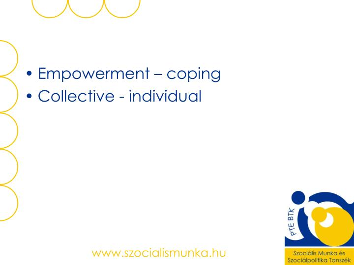 Empowerment – coping