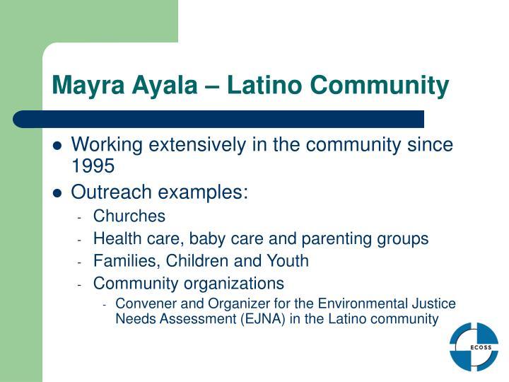 Mayra Ayala – Latino Community