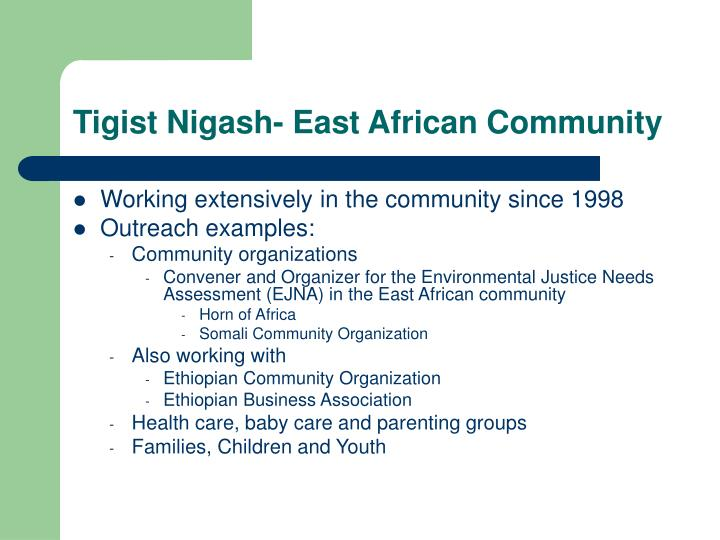 Tigist Nigash- East African Community