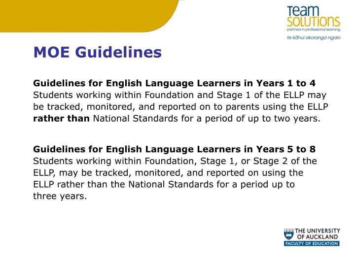 MOE Guidelines