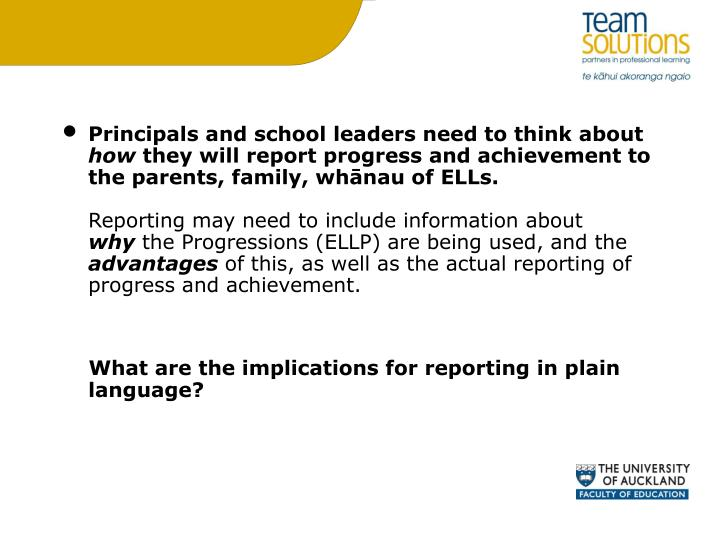 Principals and school leaders need to think about