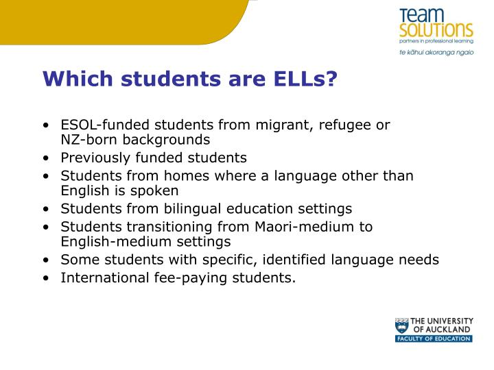 Which students are ELLs?