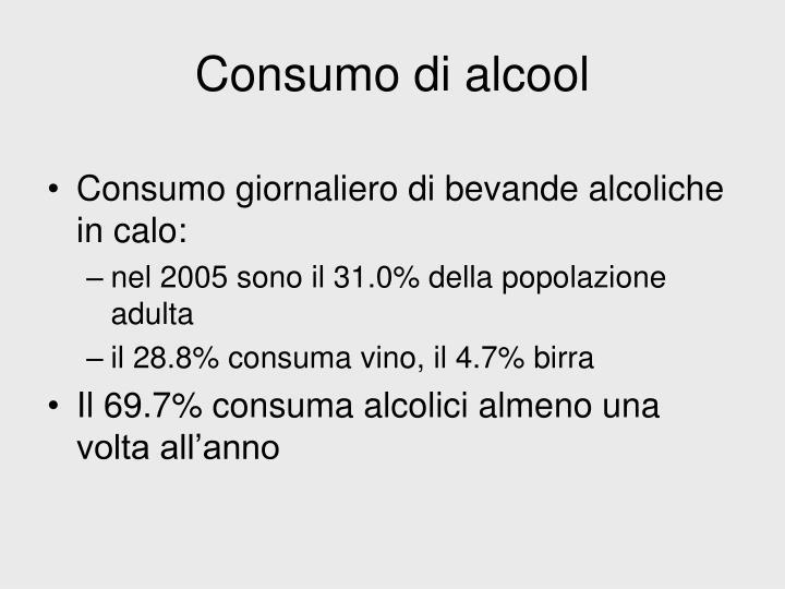 Consumo di alcool