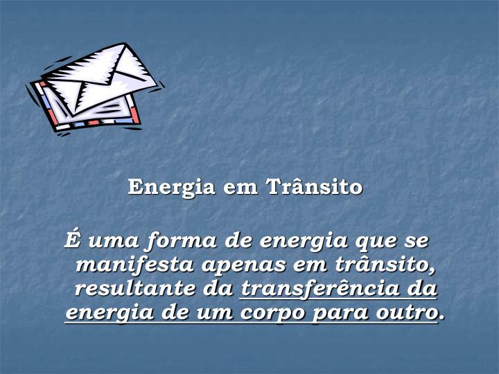 Energia em Trânsito