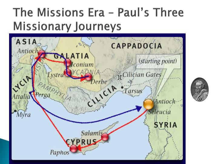 the three main missionary journeys of