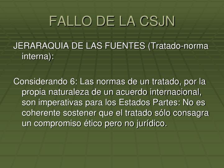 FALLO DE LA CSJN