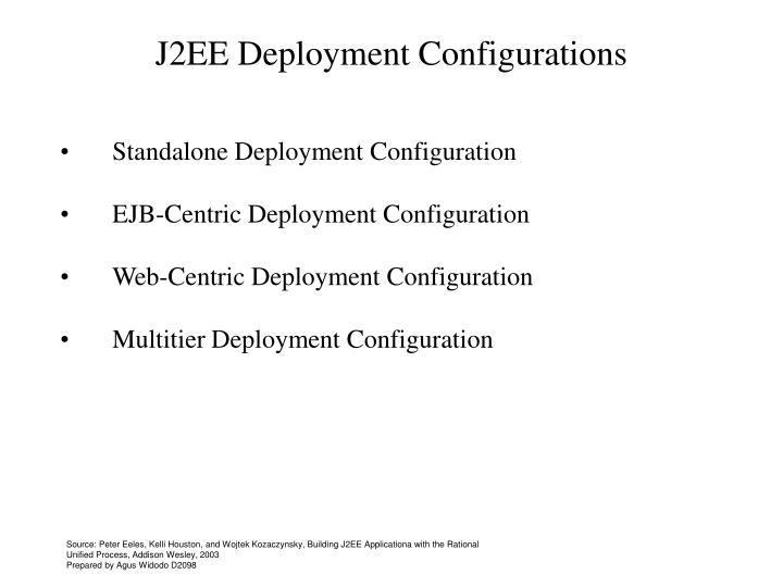 J2EE Deployment Configurations