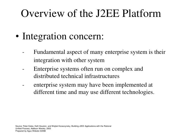 Overview of the J2EE Platform