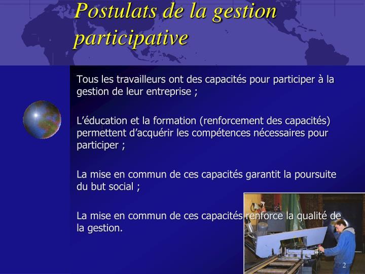 Postulats de la gestion participative
