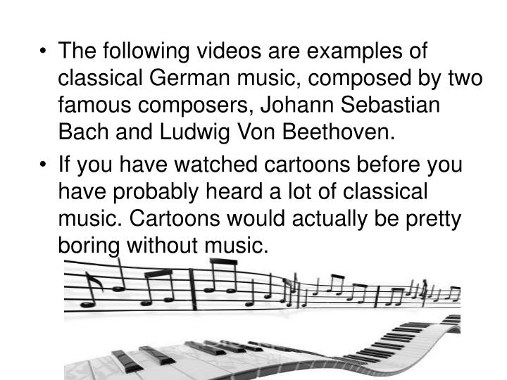 Classical composers, presentations by students by ...