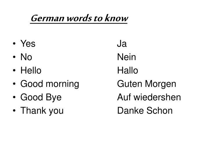 Good Morning In Austrian German : Ppt welcome to germany powerpoint presentation id